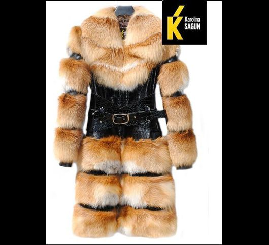 Верхняя одежда ручной работы. Ярмарка Мастеров - ручная работа. Купить Пальто-трансформер из сибирской лисы 95-105см. Handmade.