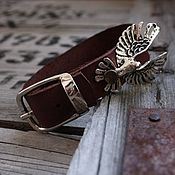 Украшения handmade. Livemaster - original item Leather bracelet - the Bird of Luck. Handmade.
