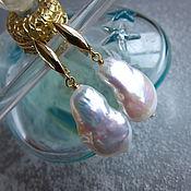 Украшения ручной работы. Ярмарка Мастеров - ручная работа Серьги  Beautiful pearl (натуральный жемчуг барокко). Handmade.
