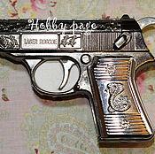 Материалы для творчества handmade. Livemaster - original item Silicone mold for soap Gun with a snake. Handmade.