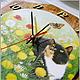 """Часы для дома ручной работы. Ярмарка Мастеров - ручная работа. Купить Часы настенные """"Хорошо в деревне летом!"""". Декупаж. Handmade."""