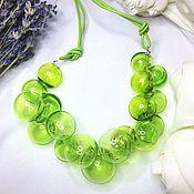 Украшения manualidades. Livemaster - hecho a mano Collar de Color veseny en un estilo minimalista. El clásico .Lempvork. Handmade.