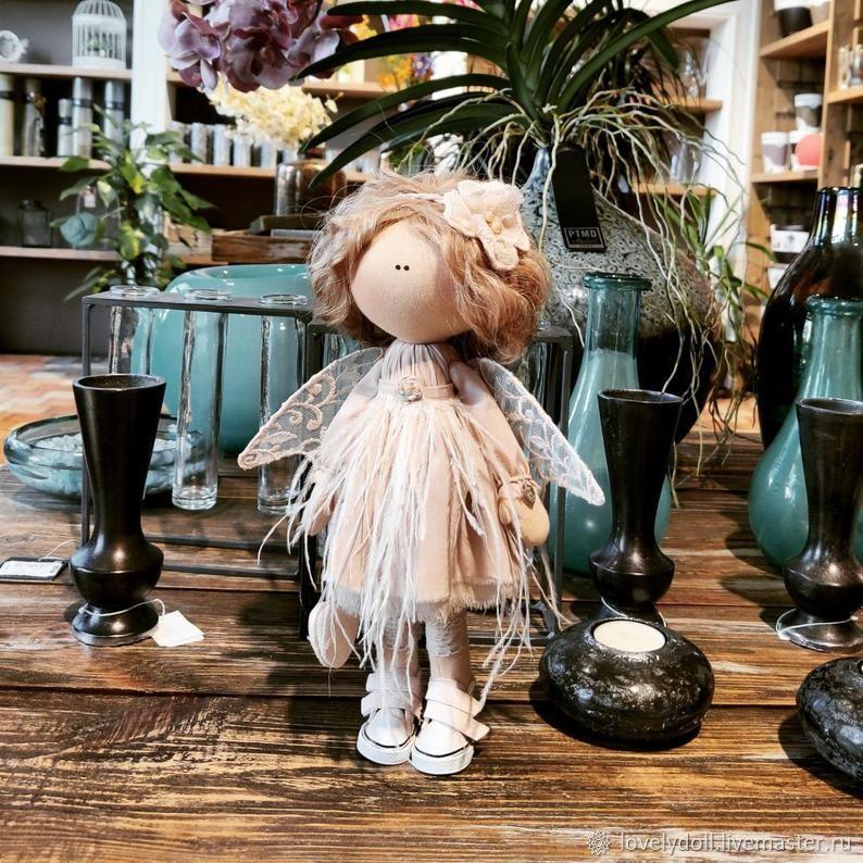 Doll: Angel dusty rose Textile doll handmade, Dolls, Kiev,  Фото №1
