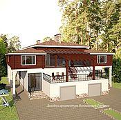 Дизайн и реклама ручной работы. Ярмарка Мастеров - ручная работа Загородный дом на две семьи. Handmade.