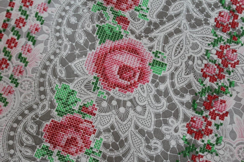 Fabric 100% cotton matting 'cross stitch', Fabric, Kaluga,  Фото №1