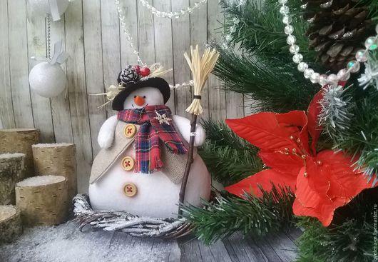 Новый год 2017 ручной работы. Ярмарка Мастеров - ручная работа. Купить Снеговик Тильда.. Handmade. Белый, снеговик в подарок