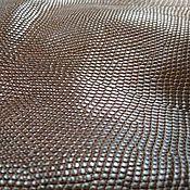 Материалы для творчества handmade. Livemaster - original item Monitor lizard skin, brown color, matt coating.. Handmade.