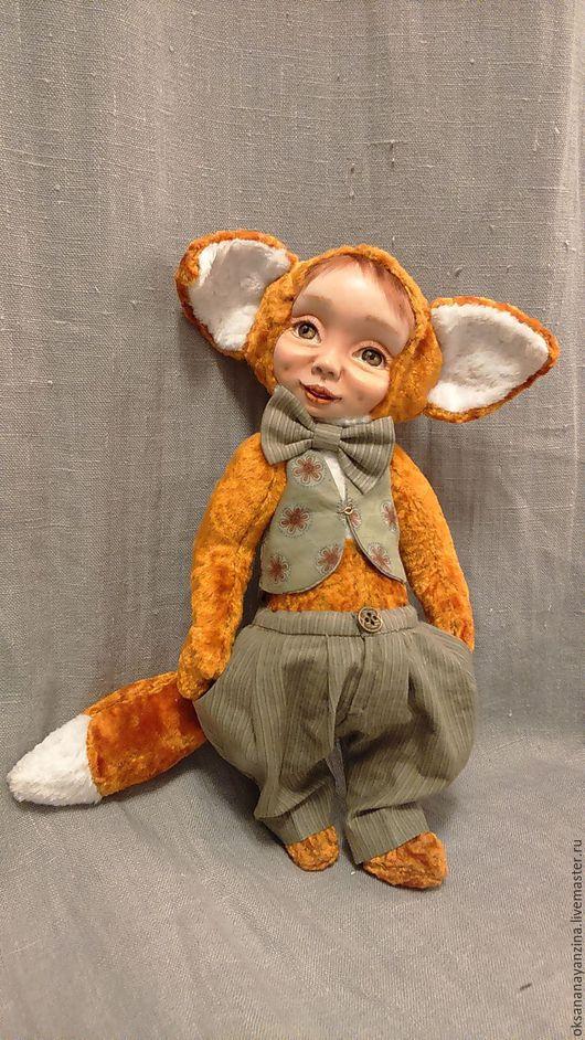"""Мишки Тедди ручной работы. Ярмарка Мастеров - ручная работа. Купить Тедди-долл """"Лисёнок"""". Handmade. Рыжий, лама"""