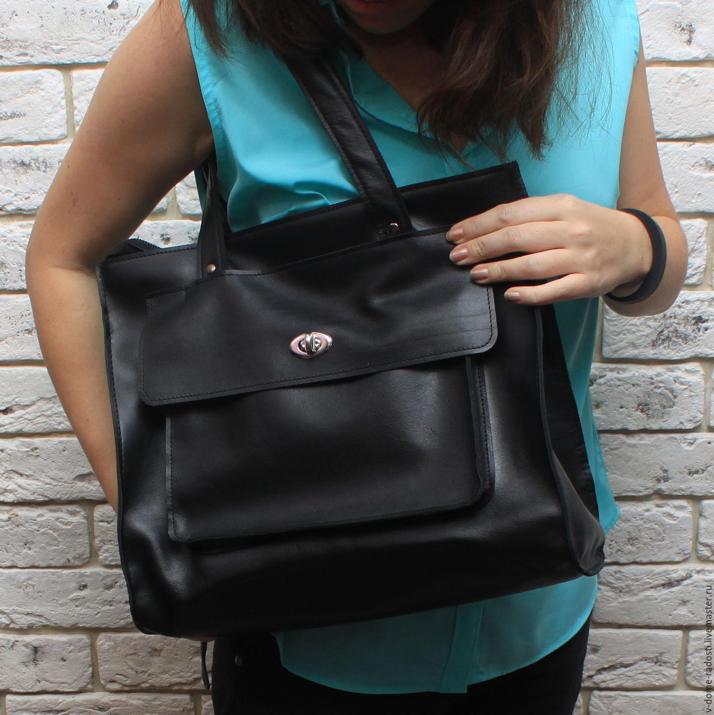 8c4d91bac429 ... Сумка черная из натуральной кожи, кожаная сумка, купить женскую сумку,  ...