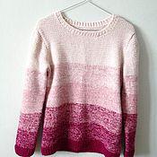 Одежда ручной работы. Ярмарка Мастеров - ручная работа Пуловер градиентный. Handmade.