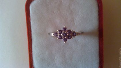 Кольца ручной работы. Серебряное кольцо с аметистом. Stone age. Ярмарка Мастеров. Кольцо в подарок, родированное серебро
