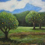 Картины ручной работы. Ярмарка Мастеров - ручная работа Картина маслом Фруктовые деревья. Handmade.