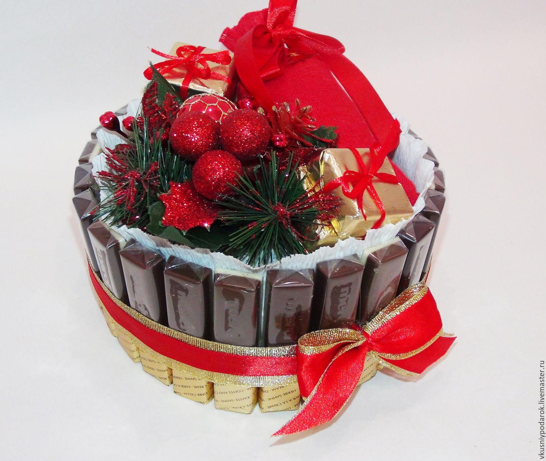 Своими руками подарок из шоколадок на новый год
