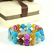 Фен-шуй и эзотерика handmade. Livemaster - original item Bracelet made of natural stones agate