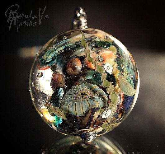 Jewelry Sets handmade. Livemaster - handmade. Buy Set 'Aquaregia'.Marina berulava, medusa, murano glass