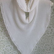 Аксессуары handmade. Livemaster - original item A copy of the product is a white kerchief, merino with cashmere. Handmade.
