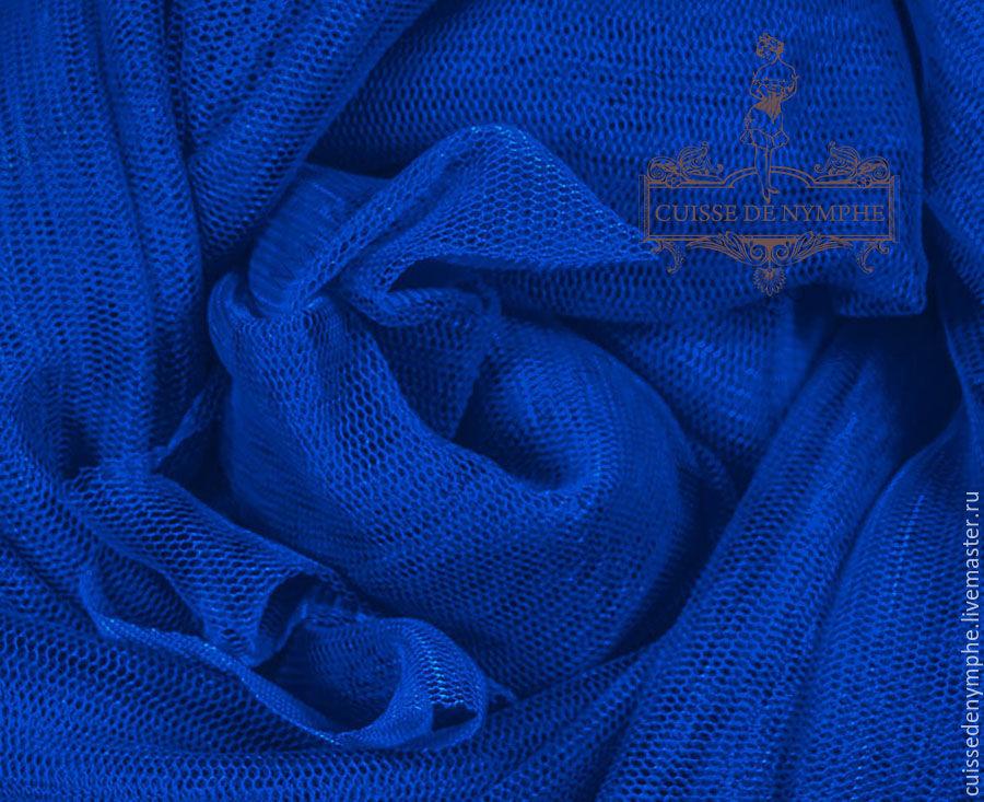 Фатин стрейч, Имперский синий (Imperial blue) LCR-352, Шитье, Москва, Фото №1