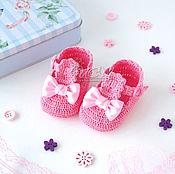 Работы для детей, ручной работы. Ярмарка Мастеров - ручная работа Пинетки сандалики для девочки. Handmade.