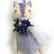 Куклы и игрушки ручной работы. Ярмарка Мастеров - ручная работа Маленький фиолетовый зая. Handmade.