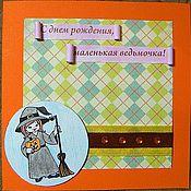 """Открытки ручной работы. Ярмарка Мастеров - ручная работа Открытка """"Маленькая ведьмочка"""". Handmade."""