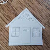 Материалы для творчества handmade. Livemaster - original item !Cutting scrapbooking embossed HOUSE, little HOUSE,big mansion, 3D. Handmade.