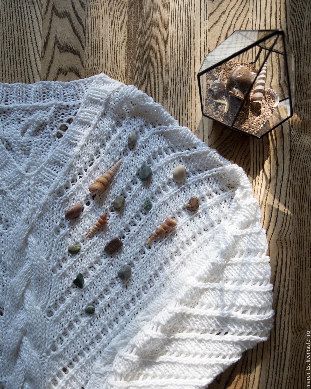 Ажурный бежевый пуловер доставка