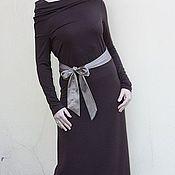 Одежда ручной работы. Ярмарка Мастеров - ручная работа Платье в пол с цельнокроенным воротником. Handmade.