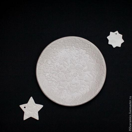Тарелки ручной работы. Ярмарка Мастеров - ручная работа. Купить Десертная тарелка. Handmade. Белый, десерт, белая глина