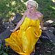Платья ручной работы. Ярмарка Мастеров - ручная работа. Купить платье-Игра солнца. Handmade. Желтый, ручная роспись