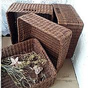 Для дома и интерьера handmade. Livemaster - original item Storage basket in brown color
