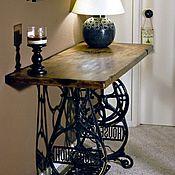 Для дома и интерьера ручной работы. Ярмарка Мастеров - ручная работа Консольный стол в стиле лофт Зингер (Singer). Handmade.