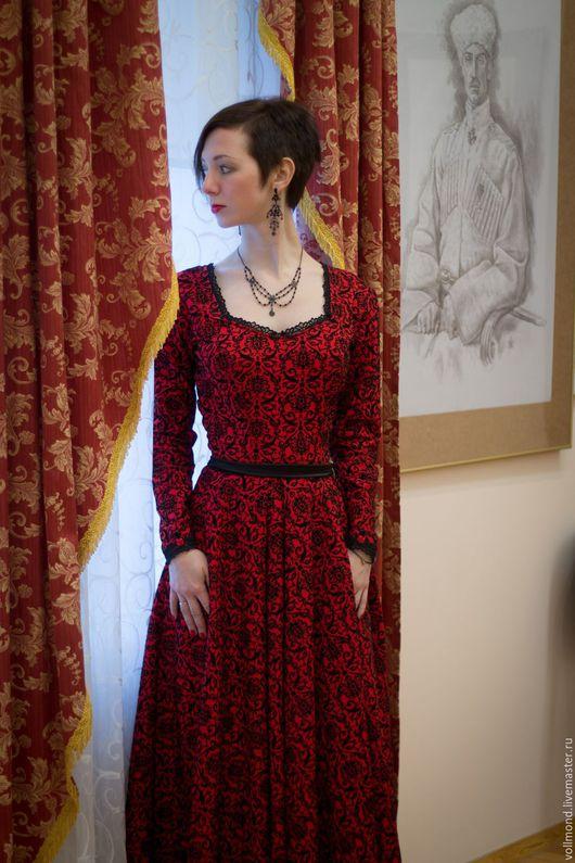 Платья ручной работы. Ярмарка Мастеров - ручная работа. Купить Платье Морелла. Handmade. Цветочный, викторианский стиль, платье на праздник
