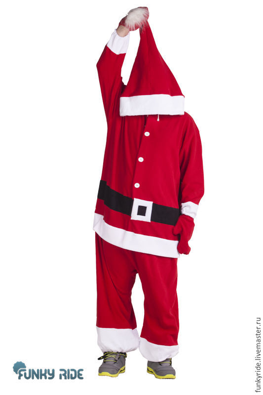 Santa Claus Kigurumi Custom Handmade Anti Pill Fleece Pyjamas Shop Online On Livemaster With Shipping