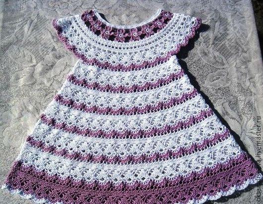 Одежда для девочек, ручной работы. Ярмарка Мастеров - ручная работа. Купить Красотка. Handmade. Комбинированный, Платье нарядное, Вязание крючком