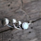 Кольца ручной работы. Ярмарка Мастеров - ручная работа 18 лунный 6мм Кольцо серебряное. Handmade.