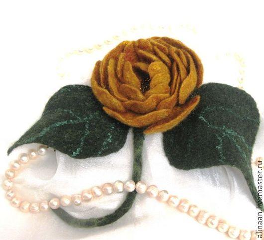"""Броши ручной работы. Ярмарка Мастеров - ручная работа. Купить """"Dolce Vita"""" брошь роза валяная. Handmade. Брошь"""