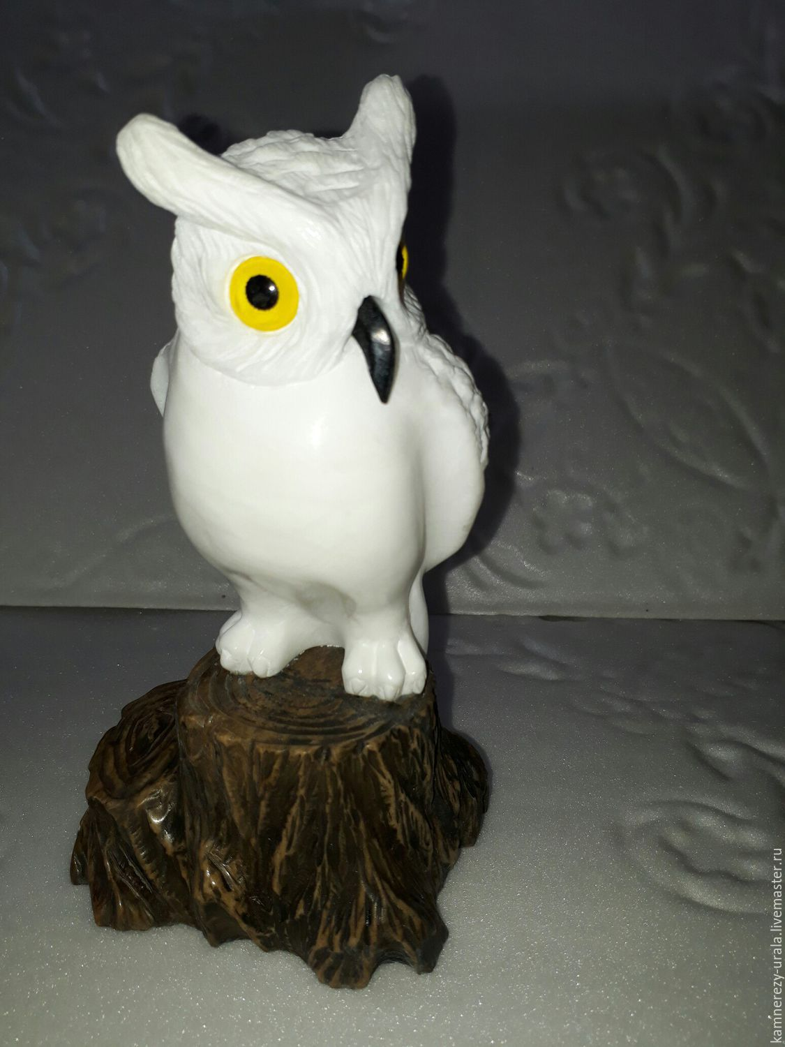 Sculpture of natural Ural stone ' Owl on a stump', Figurines, Horde,  Фото №1