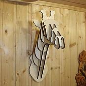 Панно ручной работы. Ярмарка Мастеров - ручная работа Голова Жирафа. Handmade.
