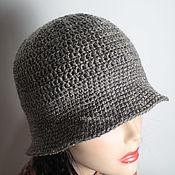 Аксессуары handmade. Livemaster - original item Grey hat (tweed). Handmade.