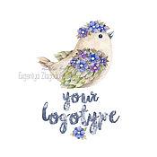 """Дизайн и реклама ручной работы. Ярмарка Мастеров - ручная работа Логотип """"Bird"""". Handmade."""