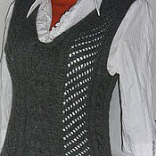 Vests handmade. Livemaster - original item Vest grey. Handmade.