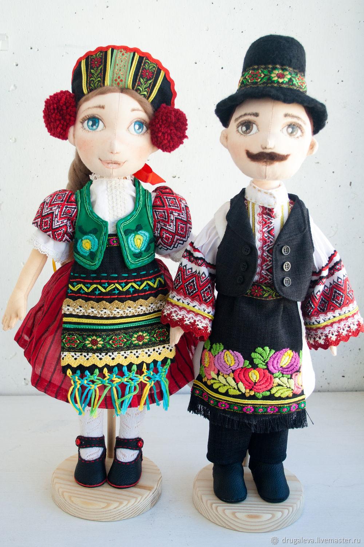 Куклы коллекционные в национальном костюме, интерьерные куклы, Куклы и пупсы, Орел,  Фото №1