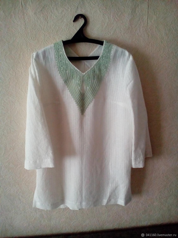 Блузки ручной работы. Ярмарка Мастеров - ручная работа. Купить Блуза с кружевом р. 48-50. Handmade. Белый