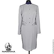 Одежда ручной работы. Ярмарка Мастеров - ручная работа Платье деловое серое, платье офисное. Handmade.