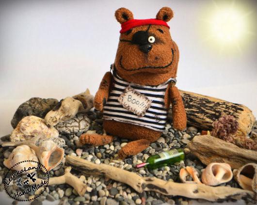 """Игрушки животные, ручной работы. Ярмарка Мастеров - ручная работа. Купить Морской """"волк"""" Вихлюн.. Handmade. Коричневый, смешная игрушка"""