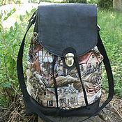 Сумки и аксессуары handmade. Livemaster - original item Backpack leather tapestry