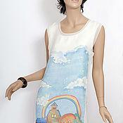 Одежда ручной работы. Ярмарка Мастеров - ручная работа 40-42 р Платье РАДУГА трехслойное, из шифона. Handmade.