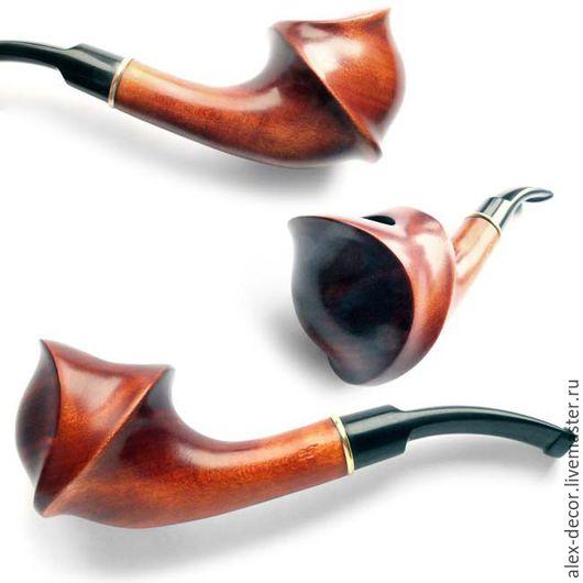 Подарки для мужчин, ручной работы. Ярмарка Мастеров - ручная работа. Купить Курительная трубка 711026-A28. Handmade. Коричневый