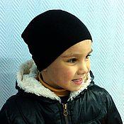 Работы для детей, ручной работы. Ярмарка Мастеров - ручная работа Трикотажня шапочка хлопок+шерсть. Handmade.