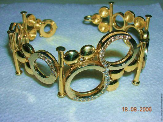 Браслеты ручной работы. Ярмарка Мастеров - ручная работа. Купить Браслет золотой. Handmade. Желтый, драгоценные камни